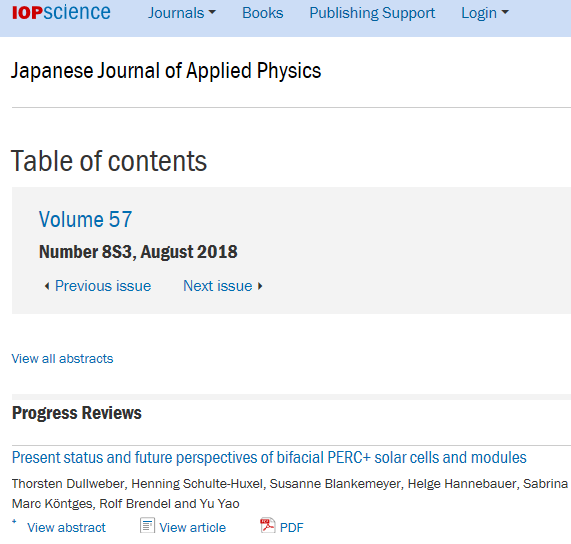 JJAP Special Issue